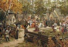 Картина о Благословлении Дмитрия Донского в Троице