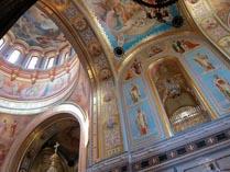 Внутренний интерьер храма Христа Спасителя