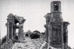 Храм Христа Спасителя после взрыва