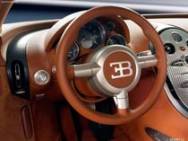 Авто Bugatti Veyron торпеда и руль