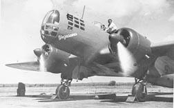 Бомбардировщик времен начала второй мировой войны ДБ-3
