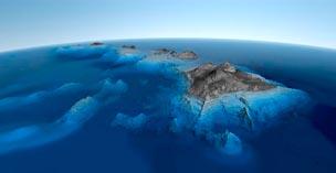Вулкан Мауна-Кеа на Гавайских островах самая высокая гора на Земле