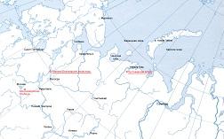 Карта Пустозерского острога