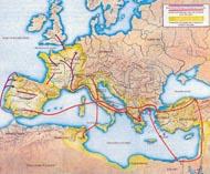Карта походов Цезаря