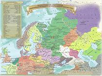 Карта территории России до начала правления Ивана Грозного