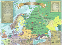 Карта территории России после правления Ивана Грозного