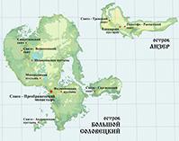Соловецкие острова, карта