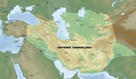 Карта империи Тамерлана