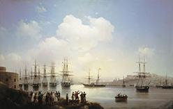 Русская эскадра на рейде Севастополя 1846