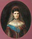 Мария Федоровна жена Александра 3, худ. Маковский