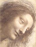 Рисунок Леонардо да Винчи - лицо женщины 01