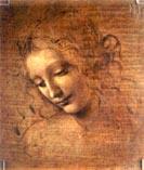 Рисунок Леонардо да Винчи - лицо женщины 02