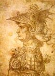 Рисунок Леонардо да Винчи - воин