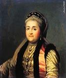 Екатерина 2 в кокошнике, автор не известен