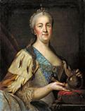 Екатерина 2 в возрасте 45-50 лет