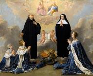 Людовик XIV, Анна Австрийская и Филипп Анжуйский перед Святой Троицей