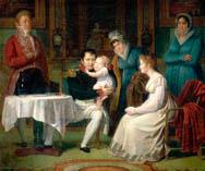 Жозефина уговорила Наполеона показать ей дитя. В тайне от Марии Луизы она приехала в Булонский лес, куда привезли ребёнка на прогулку