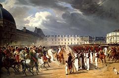 Орас Верне. Инвалид, подающий прошение Наполеону на параде гвардии перед дворцом Тюильри в Париже