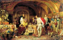 Иван Грозный и Горсей в кладовых