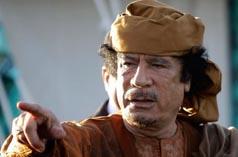 Лидер Ливии Каддафи