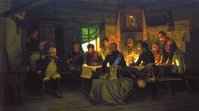 Картина Совет в Филях