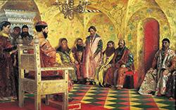 Михаил Федорович на заседании Боярской Думы