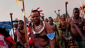 Король Свазиленда Мсвати III на национальном празднике