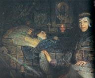 Наталья Нарышкина у постели Петра 1 в детстве