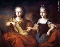 Петр 1 и Наталья в детстве
