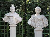 Ян Собенский и его Марысинка в Летнем Саду Санкт-Питербурга
