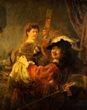 Рембрандт автопортрет с Саскией на коленях