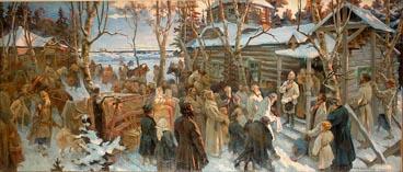 Отъезд А.В.Суворова из села Кончанского в поход 1799