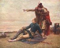 Король Швеции Карл XII и Мазепа после Полтавской битвы