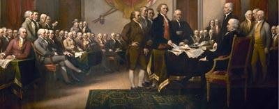 Подписание декларации 1776 о США