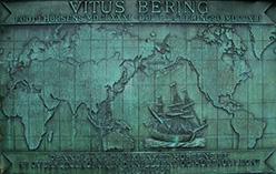 Карта российского мореплавателя Витус Беринг