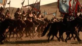 Кадр из фильма ВВС Чингизхан - борьба за первенство среди монгольских племен