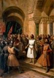 Провозглашение Годфрида Бульонского королем Иерусалима 23 июля 1099 года