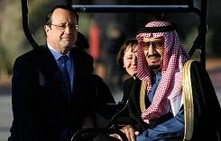 Король Саудовской Аравии Сальман ибн Абдель-Азиз ас-Сауд и Президент Франции Франсуа Оланд