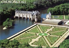 Замок Шанонсо Франция 01 сверху