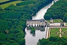 Замок Шанонсо Франция 04 сверху