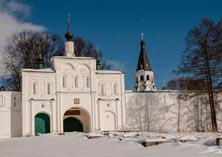 Александровская Слобода центральные въездные ворота зимой