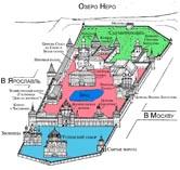 Ростов Великий, Кремль, план-схема