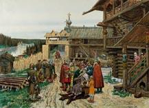 Двор удельного князя времен Дмитрий Донского