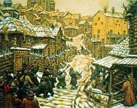 Деревянная Москва времен Ивана 3