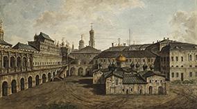 Московский Кремль Церковь Спаса на Бору Теремной дворец и переход в Благовещенский собор