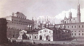 Московский Кремль Церковь Спаса на Бору и Теремной дворец