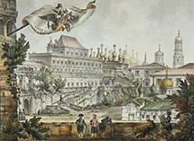 Московский Кремль Теремной дворец и церковь Спаса на Бору