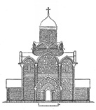 Московский Кремль первый каменный Успенский Собор Ивана Калиты