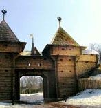 Московский Кремль Ворота когда Кремль был деревянным