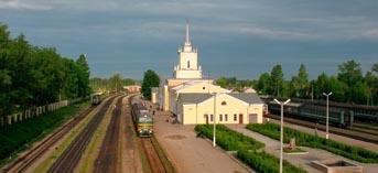Станция Дно около Пскова